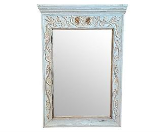 Painted Mirror with Carved Vine Detail, https://townandsea.com/product/painted-mirror-with-carved-vine-detail/