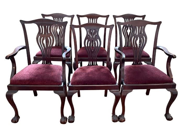 Chippendale Style Dining Chairs, Set of 6, https://townandsea.com/product/chippendale-style-dining-chairs-set-of-6/