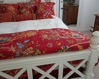Very heavy solid wood queen size bed.