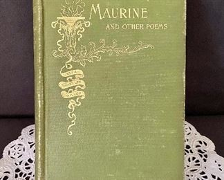 """""""Maurine and Other Poems"""" by Ella Wheeler, HB, 1893. $7"""