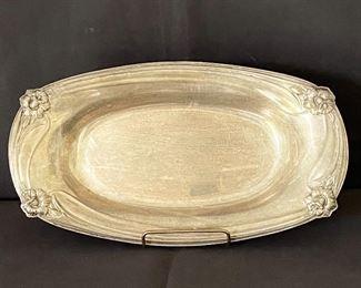 Silver tray. $20