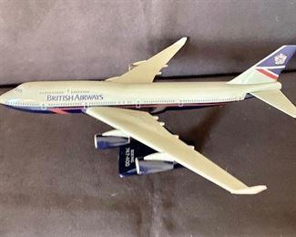 Boeing 747 - British Airways toy replica plane. $30