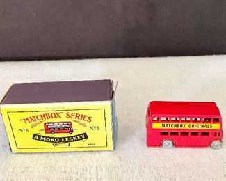"Rare ""Matchbox"" Series No. 5 double decker bus in the box. (1990's) $25"