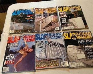 """""""Slap Skateboard Magazine"""" (6) issues from 2002 and 2003. $14"""