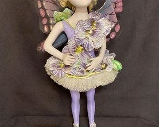 """Porcelain Doll Fairy """"Fucia"""" by artist Bill O'Connor, 1997 Measures 21 1/2"""" tall. No chips or cracks.$30"""