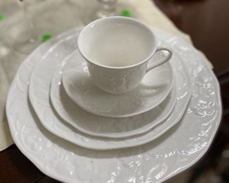 Eight 5 piece place settings of Wedgwood Strawberries and Vine