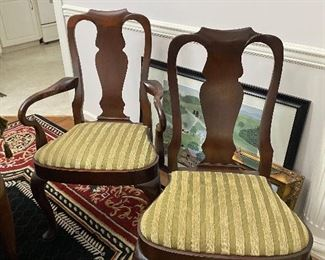 Set of 8 Chinese chippendale style dining chairs