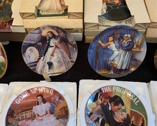 GWTW musical plates and collectors plates
