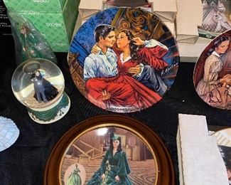GWTW Water globes,  musical plates and collectors plates