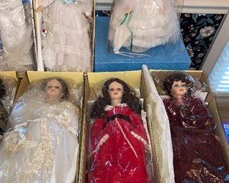"""18"""" 20 and 22"""" GWTW dolls"""