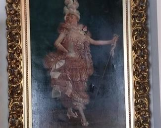C Lindley painting. Late 1800s $695 48 × 30