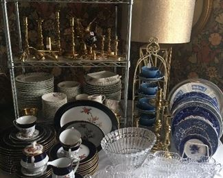 More than a dozen sets of China from casual to fine.