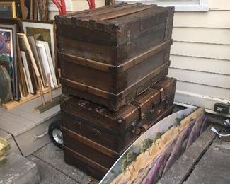 Trunks, cedar chests and more furniture