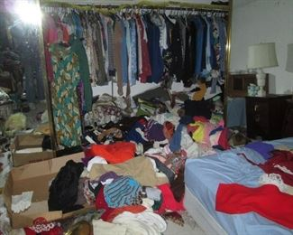 1st Floor Bedroom:  Clothes (Floor is there somewhere)