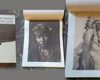 """Living Room:  Edward S. Curtis  """"Portraits from North American Indian Life."""
