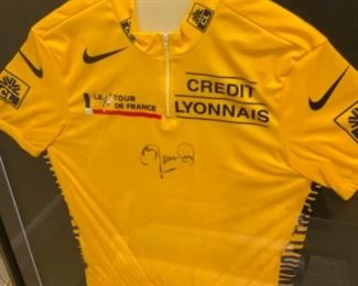 signed Tour de France jersey