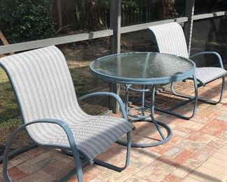 Winston table and chairs - Two tables and 6 chairs