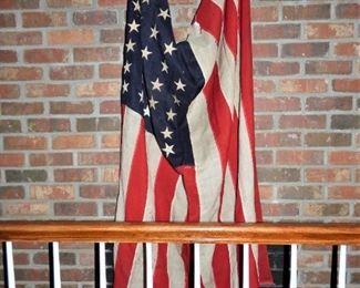 Antique Muslin 48 Star American Flag