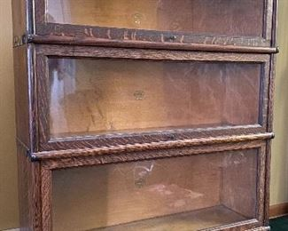 Macey barrister bookcase Arts&Crafts tiger oak