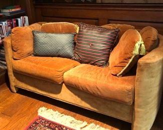Coordinating yellow sofa