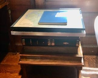 Stack of books end table