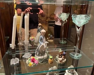 . . . another Lladro, art glass, Coleport, and crystal candle holders