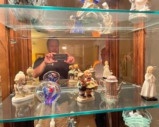 . . . ignore goofy guy -- faux Hummel, paperweight, Lladro , Precious moments, and teapot