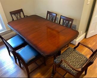 Basset dining table and chairs