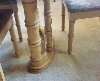 Dining table legs, chair legs