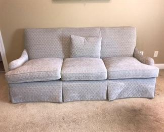"""Beautiful brand new gray and white sofa. It measures 40"""" x 86"""" x 37"""". The cushion height is 5"""". Our clients ordered a sofa and the wrong one was sent and it was never used. https://ctbids.com/#!/description/share/949821"""