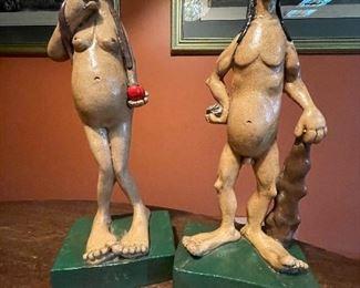 Adam and Eve Art Sculpture