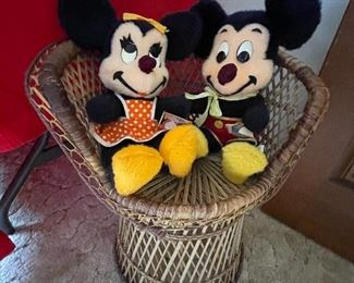 Vintage Mickey Mouse and Minnie Mouse