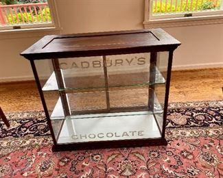 Antique Cadbury Chocolate store case