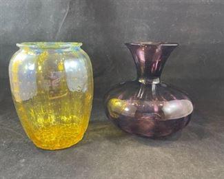 2 Durand 6in Vases
