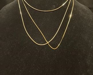 3 14K Yellow Gold Chains