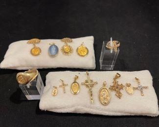 14K Yellow Gold Religous Pieces