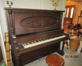 Beautiful Starck Piano.  Manufactured during 1909.  See letter.