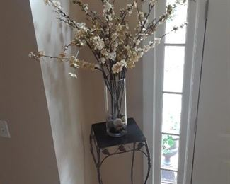 Pedestal with arrangement of flowering branches