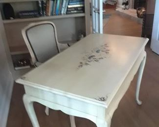 Painted desk by Jasper Furniture with French style armchair