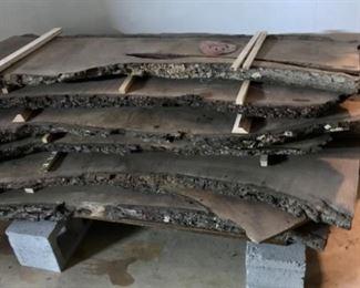 Black walnut planks