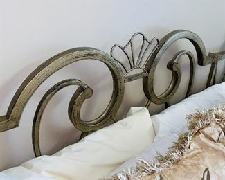 """$200 QUEEN SIZE BED WITH METAL HEADBOARD 84""""L x 60""""W x 51""""H"""