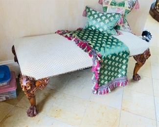 """$350 ARDLEY HALL INC WOODEN FRAME UPHOLSTERED BENCH 50.5""""L x 23.5""""W x 19.5""""H"""