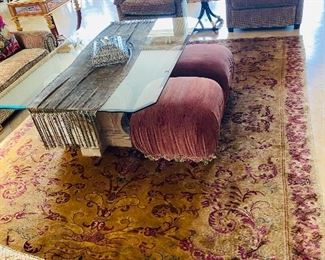 """$500  AREA RUG FROM DESIGN CENTER 134""""L x 100""""W"""