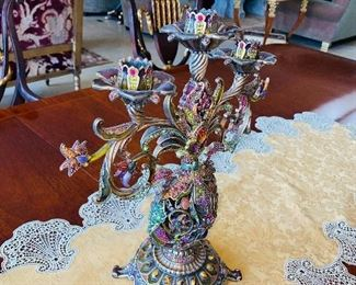 """$4,000 ULTRA RARE JAY STRONGWATER MARILLA CANDELABRA 14"""" HEIGHT LIMITED EDITION 72/95"""