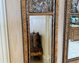 """$85 EACH TWO FRENCH SCENE MIRRORS 15""""L x 35.5""""H"""