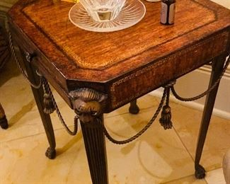 """$150 SMALL SQUARE CIGAR TABLE WITH LIONS 14""""L x 14""""W x 20""""H"""
