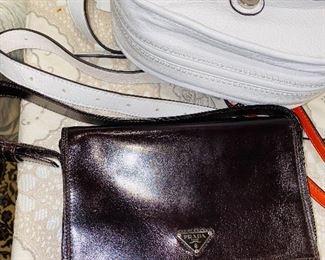 $300 PRADA BROWN LEATHER SHOULDER BAG