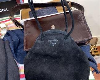 $150 SMALL PRADA SUEDE BAG