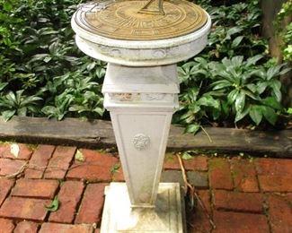 pedestal sun dial
