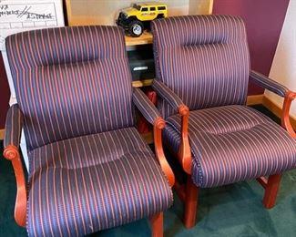 Chairs BlueMaroon Stripe